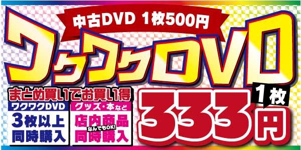 1枚333円DVD